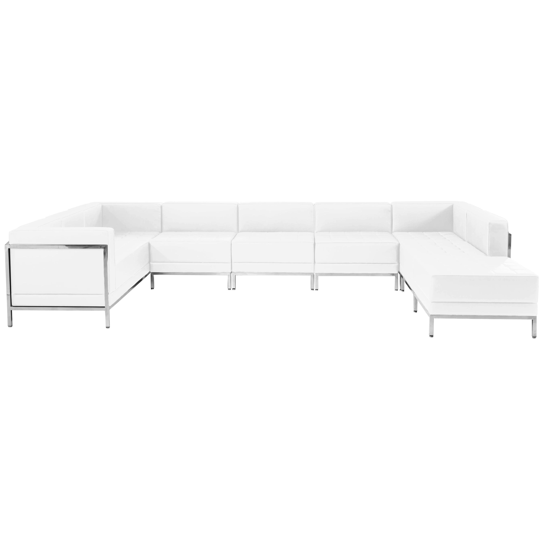 White leather 8 piece sofa