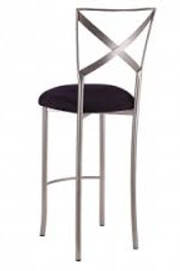Silver cross back stool