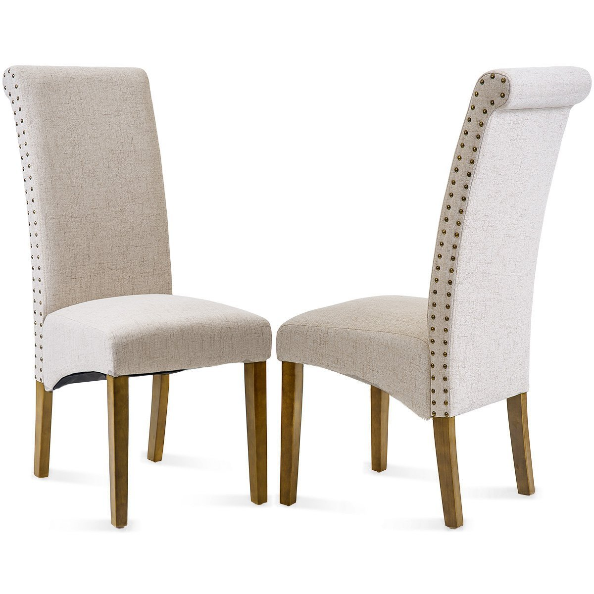 Linen side chairs