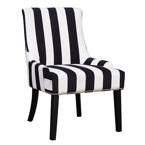 Black and White Stripe Chair