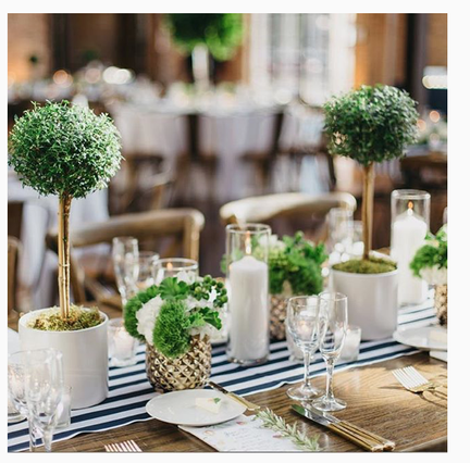 Topiary tablescape