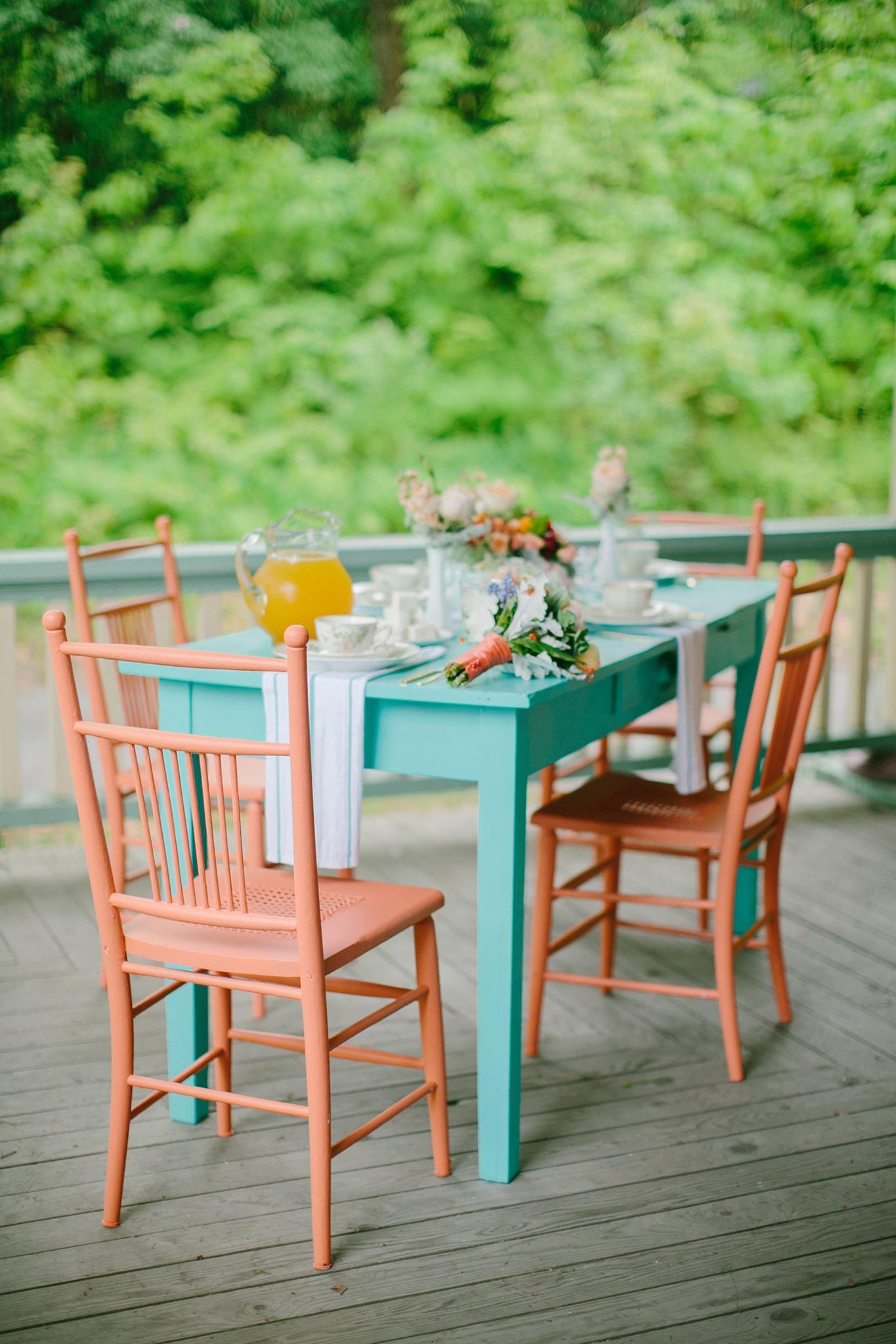 Peach side chairs