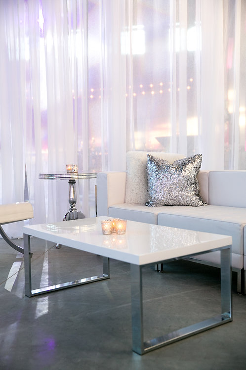 White and Silver Coffee table