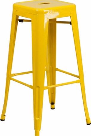Yellow bar stool