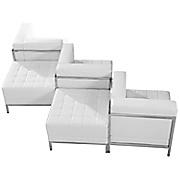 White 5 piece lounge set
