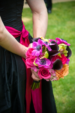 Vibrant Bridesmaids bouquet