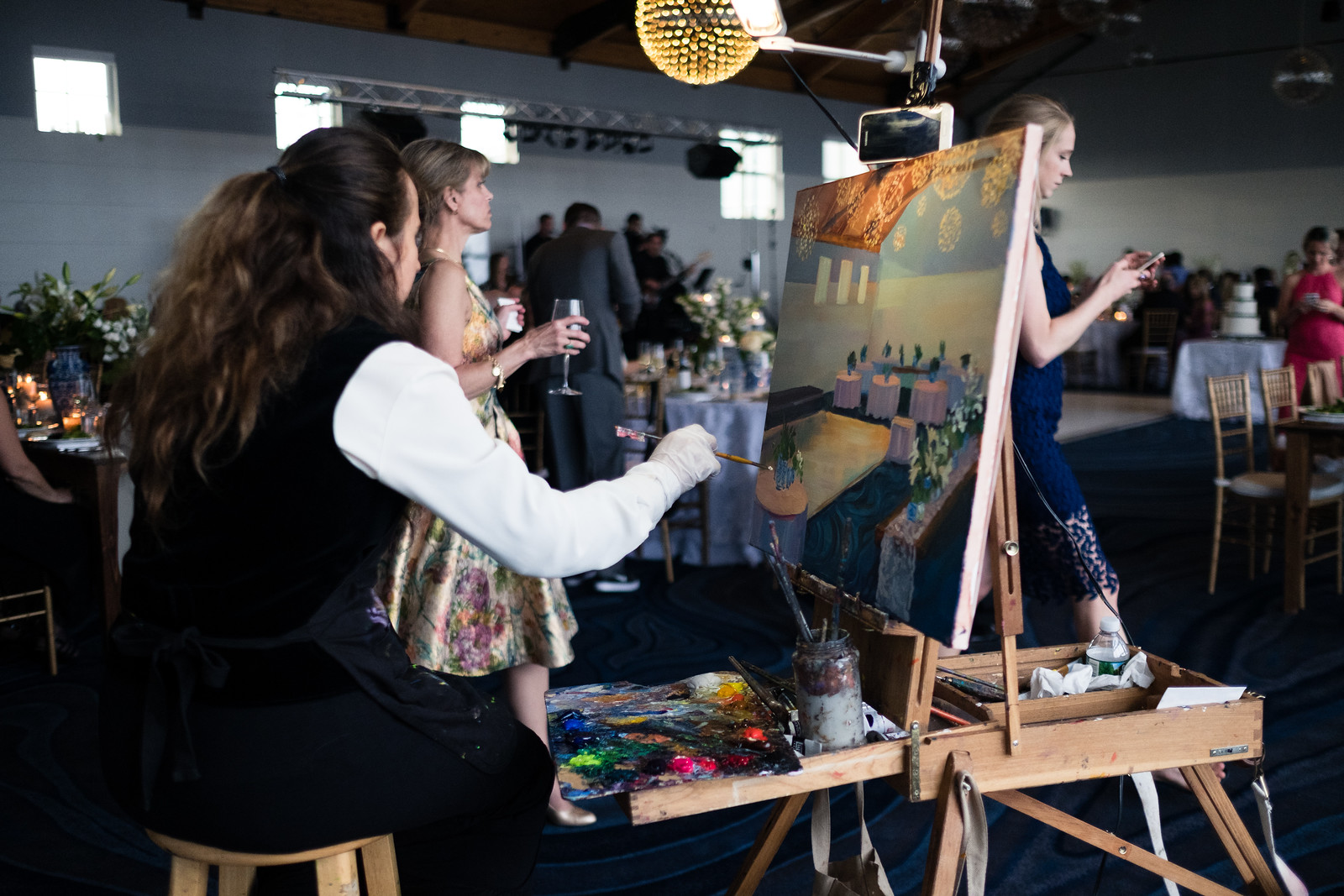 Painting the event