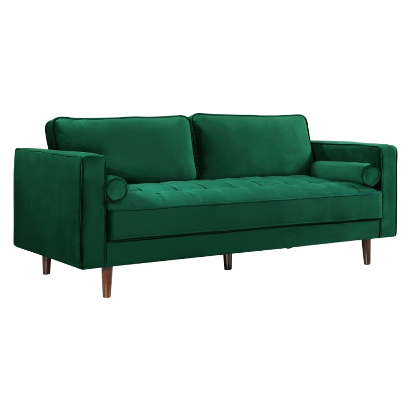 green velvet love seat
