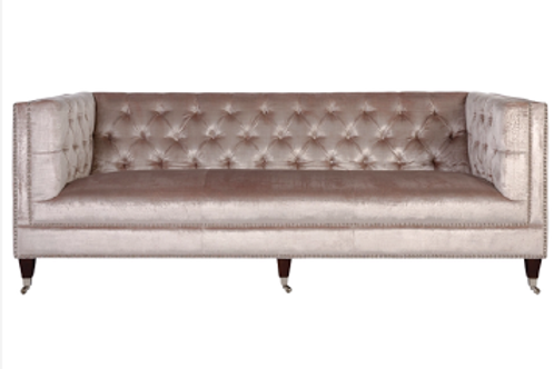 Blush couch with matching side chair