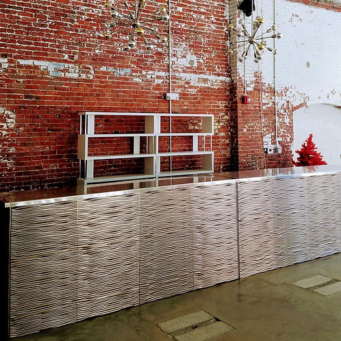 Silver Wave Bar with Stainless steel tops