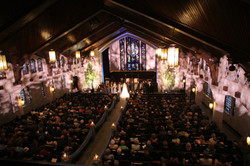 Church lighting with gobos