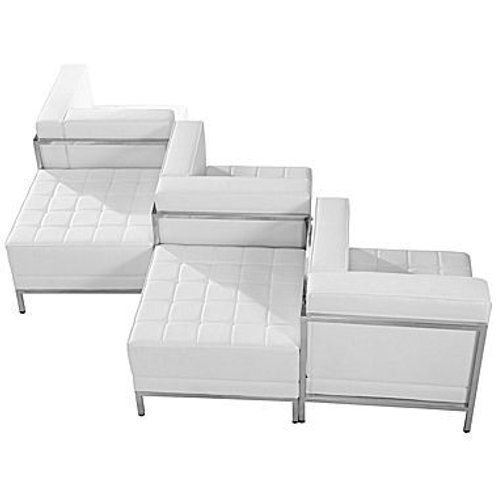 Assorted white leather sectionals