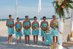 Tiffany Blue and Orange wedding