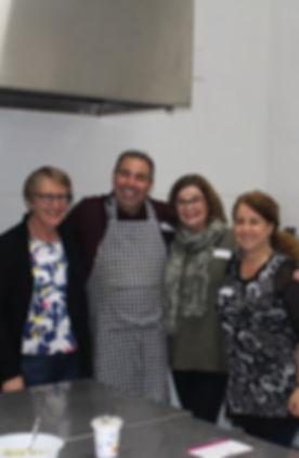 Nora, Adrian, Mairead and Antonietta in kitchen