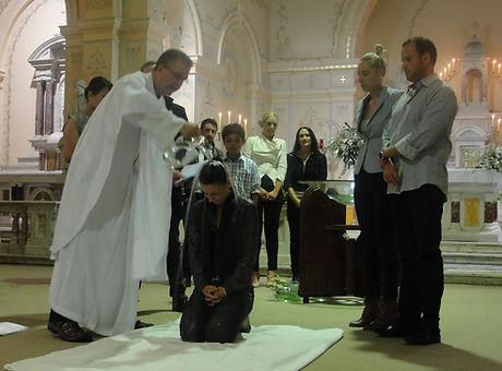 Adult Baptism Sacred Heart