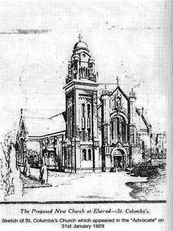 St Columba Sketch 1929