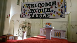 Welcome to our table banner