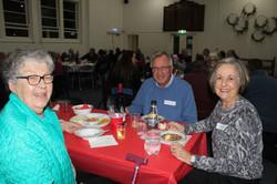 Parishioners enjoying dinner