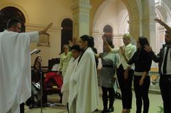 Blessing of newly baptised