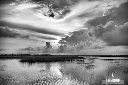 Cloud Cover Sunrise Black and White