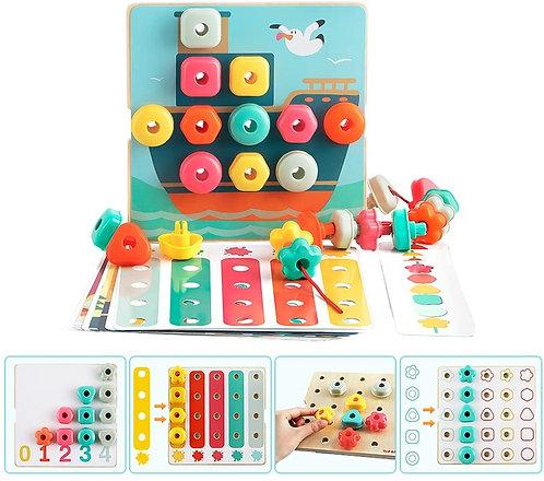 Tablero Montessori Crea y Encaja