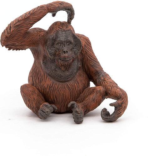 Figura Animales Orangután Pintado a Mano