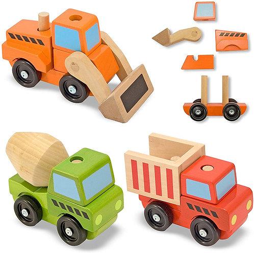 Vehículos de Construcción en Madera Apilables