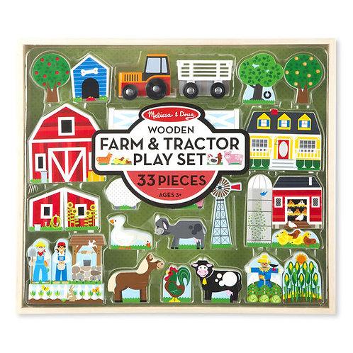Juego de Granja y Tractor