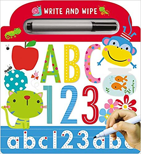 Libro en inglés Borrable ABC 123