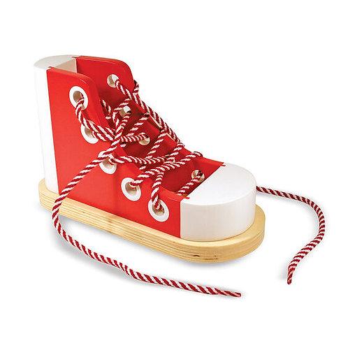 Zapato de Madera con Cordones