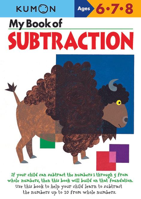 Libro Kumon My book of subtraction