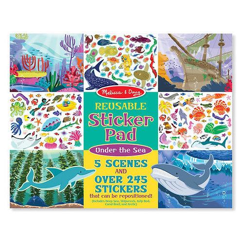 Stickers Reutilizables 5 Escenas del Océano