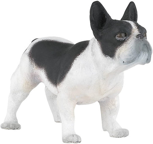 Figura Animales Bulldog Frances Pintado a Mano