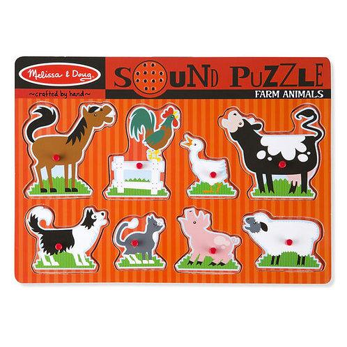 Rompecabezas con sonido animales de la granja