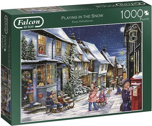 Rompecabezas 1000 piezas Playing In The Snow