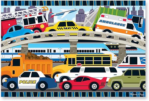 Rompecabezas Tapete 24 Piezas Tráfico