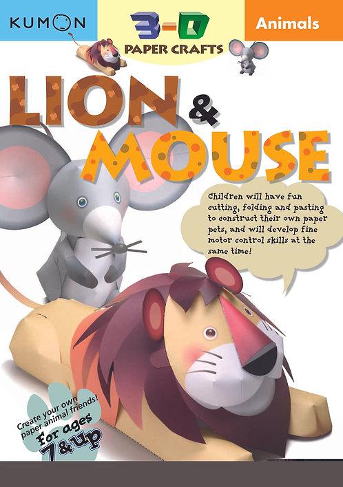 Libro Kumon Animals Lion & Mouse
