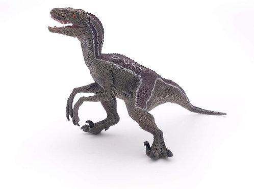 Dinosaurio Velociraptor Pintado a Mano