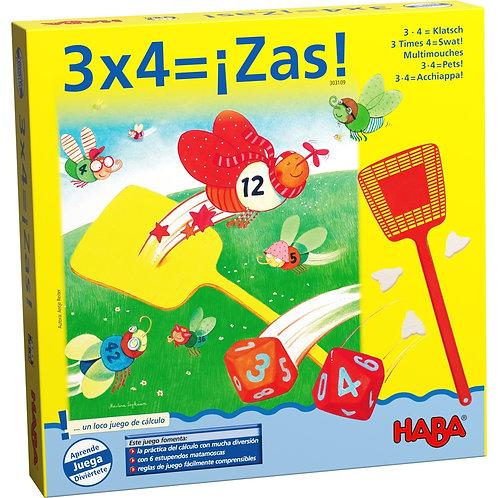 Juego De Mesa Matemático 3x4=¡Zas!