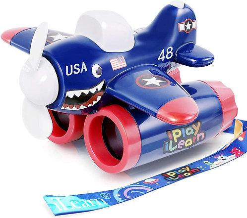 Avión Azul con Binoculares 3 en 1