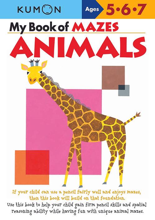Libro Kumon My book Of Mazes Animals