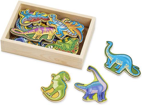 Imanes en Madera  Dinosaurios
