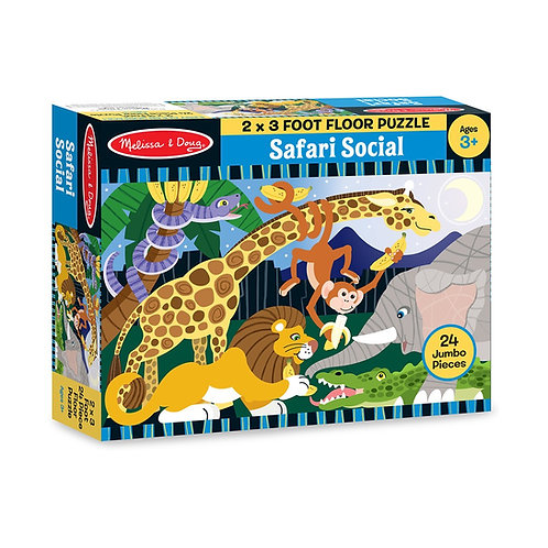 Rompecabezas Tapete de Juego Safari 24 Piezas
