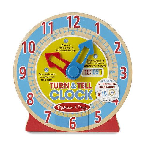 Reloj de Madera para Aprender la Hora