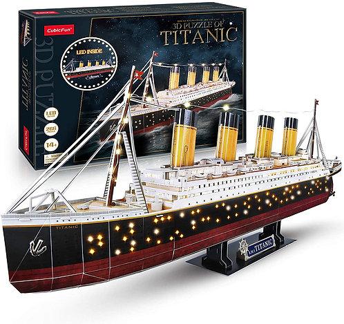 Rompecabezas 3D Titanic con Luces