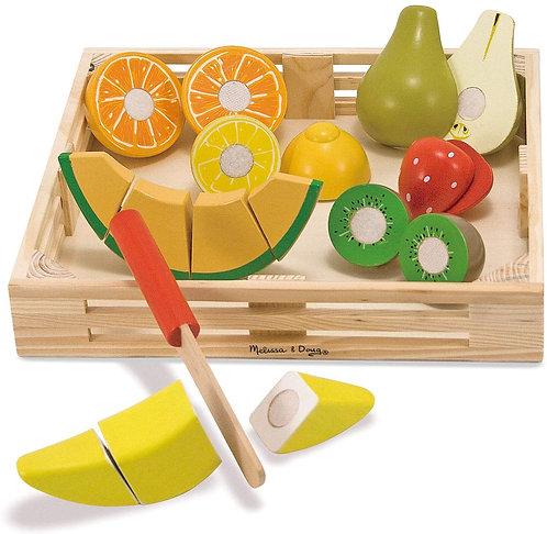 Frutas en Madera para Cortar