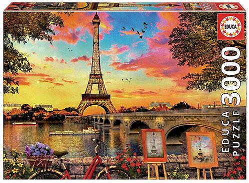 Rompecabezas 3.000 piezas Atardecer en Paris
