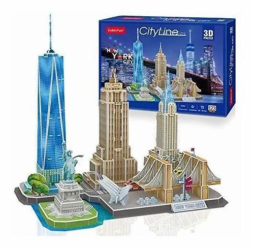 Rompecabezas en 3D Ciudad de Nueva York