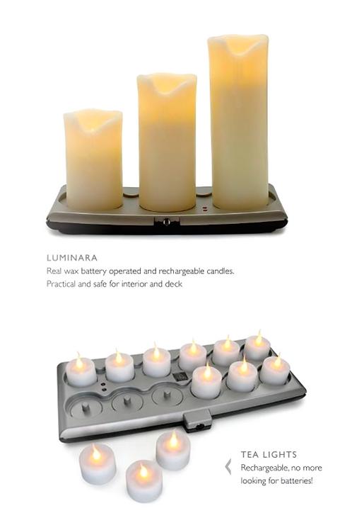 Luminara Candles - safe for interior and deck