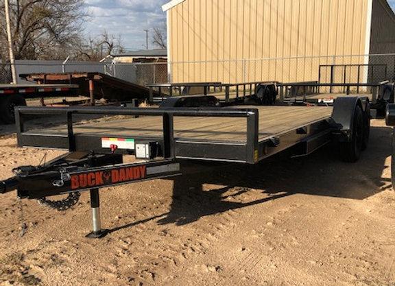 83x18 7k Car hauler w/ Steel Dovetail